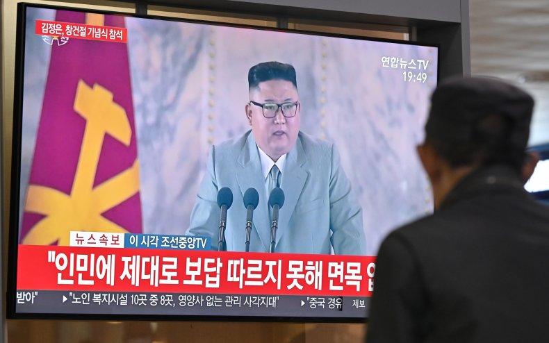 Kim Jong Un speaks on Seoul television