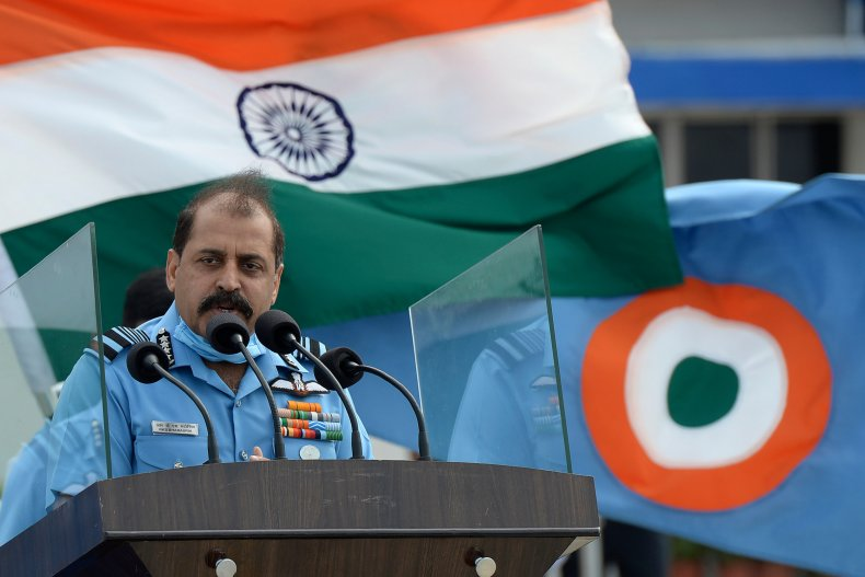 India Air Force Chiefs Addresses Troops