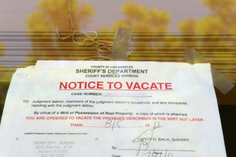 "A ""Notice to Vacate"" is seen in"