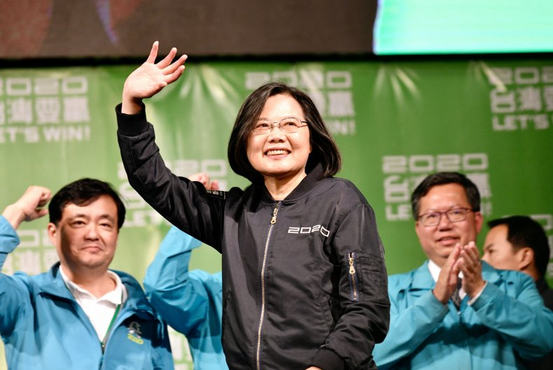 Taiwan's President Tsai Ing-wen Campaigns for Re-election