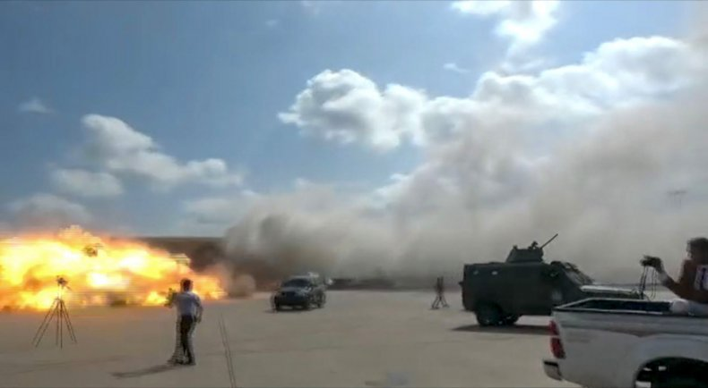 yemen, airport, attack, plane, explosion