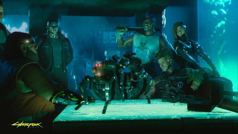 cyberpunk 2077 meeting characters