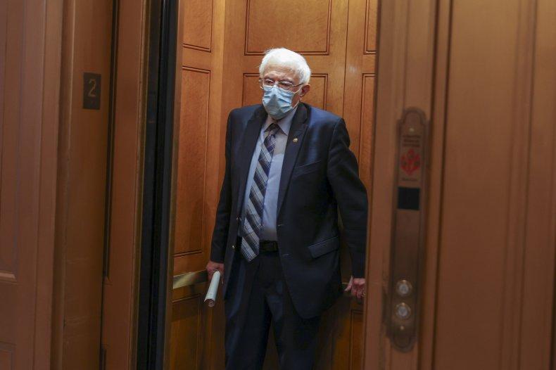 Vermont Sen. Bernie Sanders at the Capitol