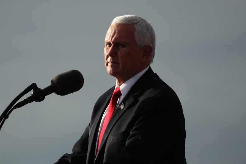 Mike Pence Attends a Georgia Rally