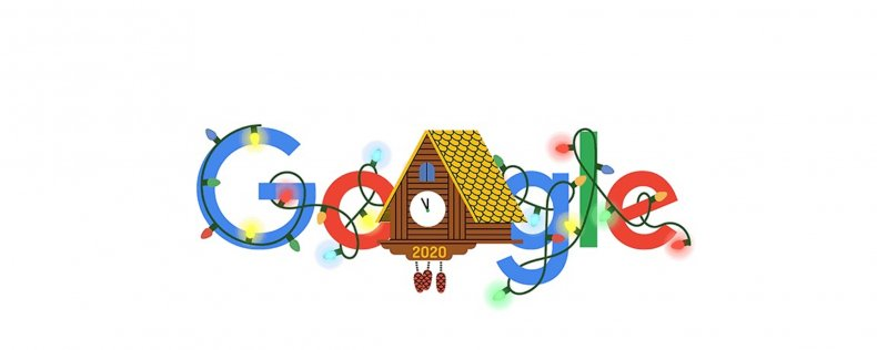 Google Doodle on New Year's Eve 2020