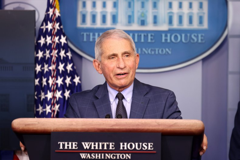 Anthony Fauci White House briefing November 2020