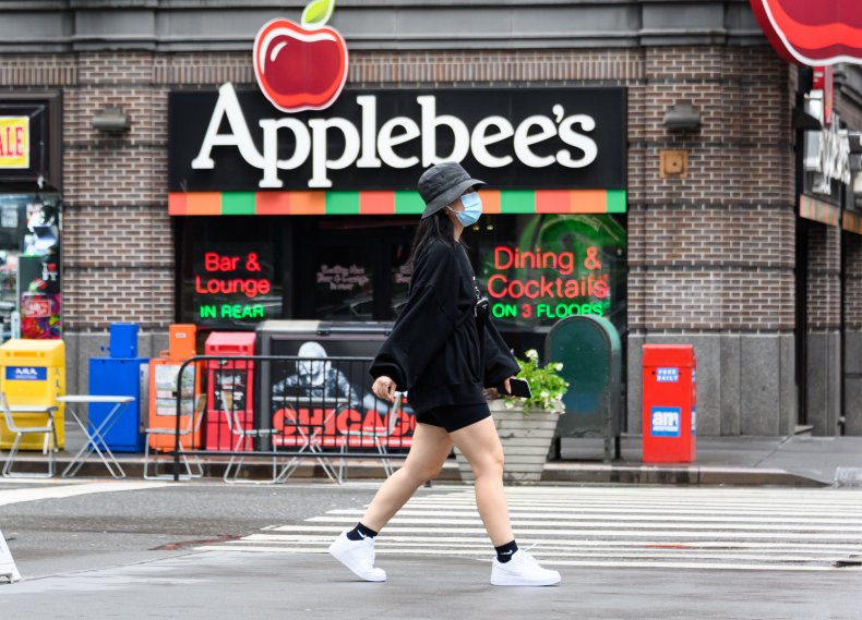 Applebee's restaurant NYC August 2020