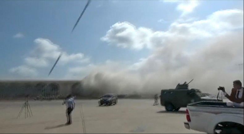 yemen, aden, airport, attack