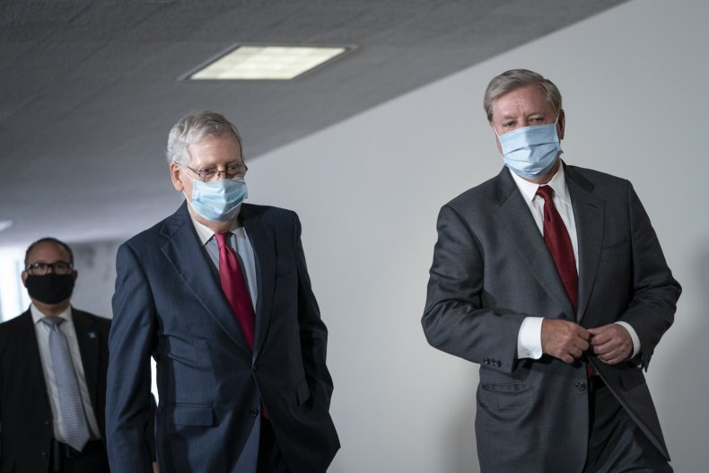 Mitch McConnell and Lindsey Graham in Congress