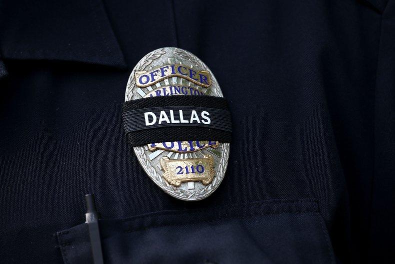 An Arlington Police Badge Honoring Dallas Police
