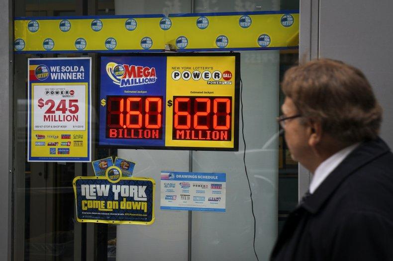 Mega Millions lottery sign