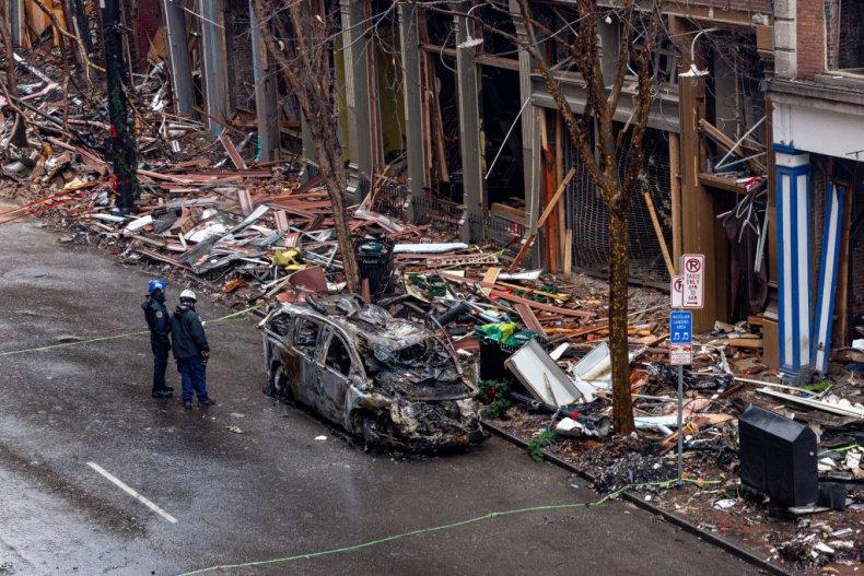 Nashville explosion aftermath