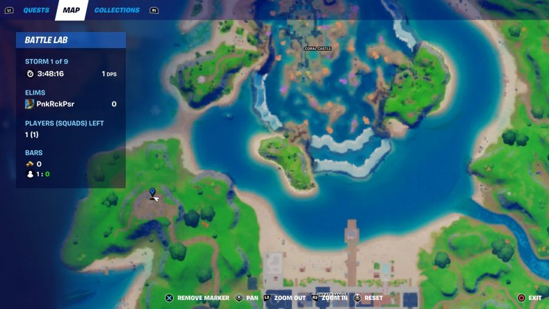 fortnite gnome dig 1 map