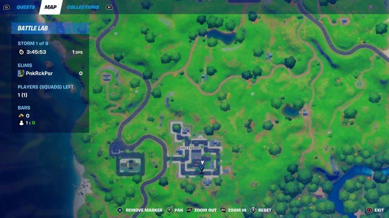 fortnite gnome collect 4 map