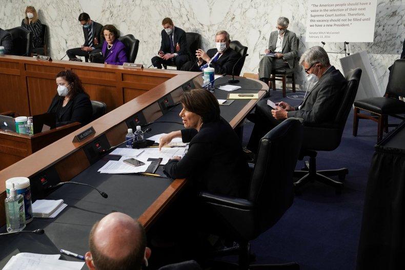 Amy Klobuchar on the Senate floor