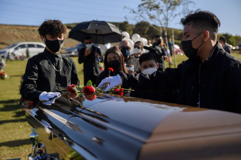 COVID-19 death funeral California December 2020