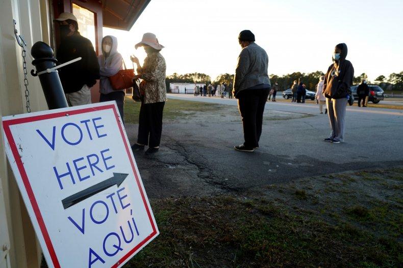 Senate runoff voters in Georgia