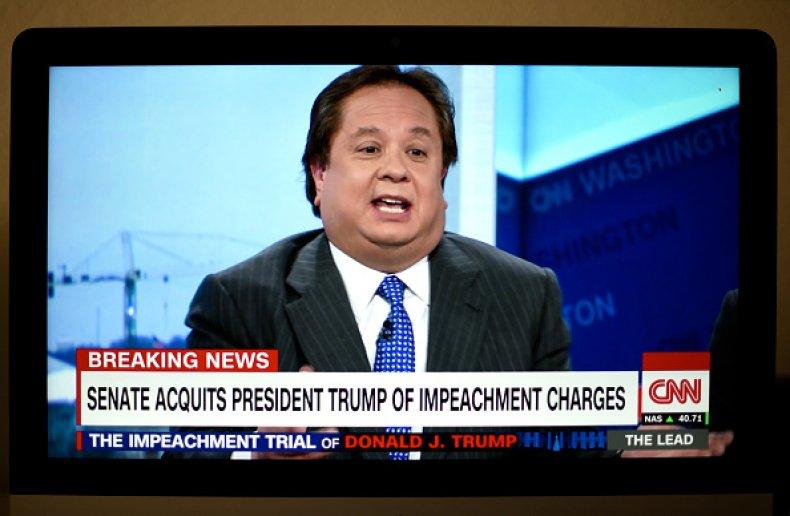 CNN televisioin coverage of Donald Trump impeachment