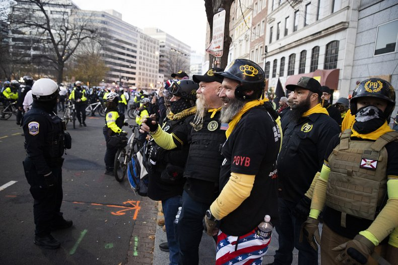 Proud Boys, Washington, D.C., Donald Trump