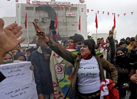tunisia, protests, arab, spring, anniversary