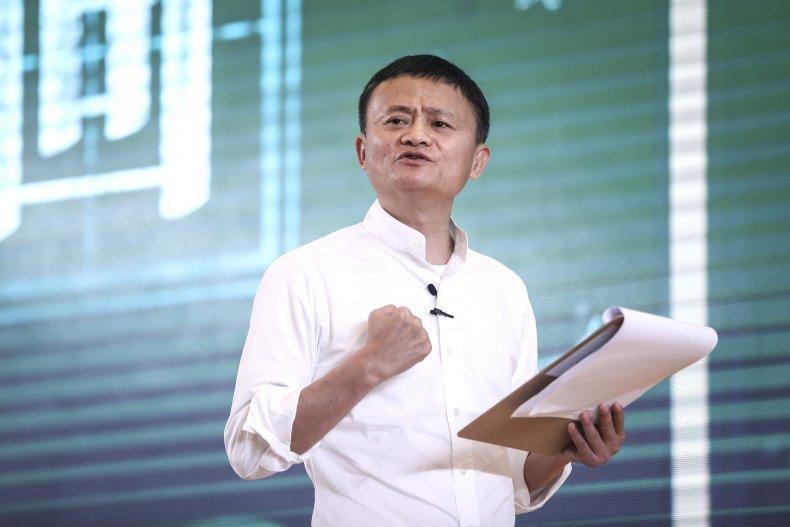 Alibaba Co-founder Jack Ma Addresses Audience