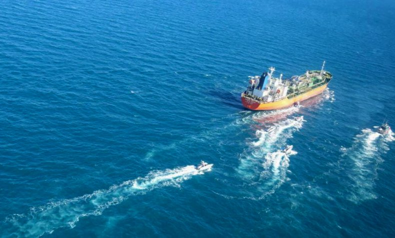 A South Korean-flagged tanker in Persian Gulf