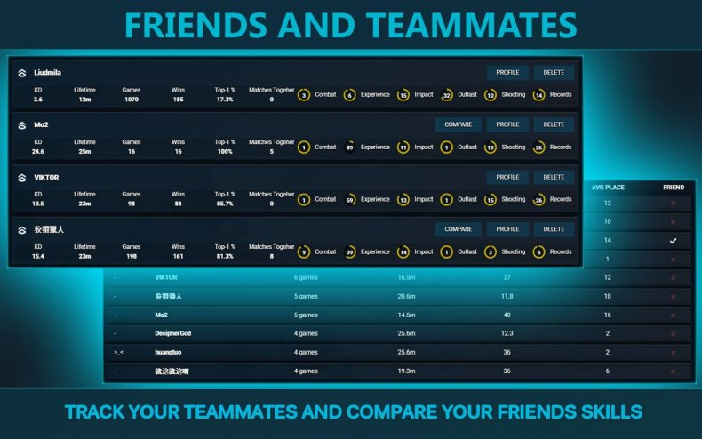 warzone companion app friends