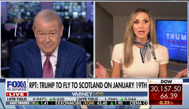 lara trump inauguration scotland win