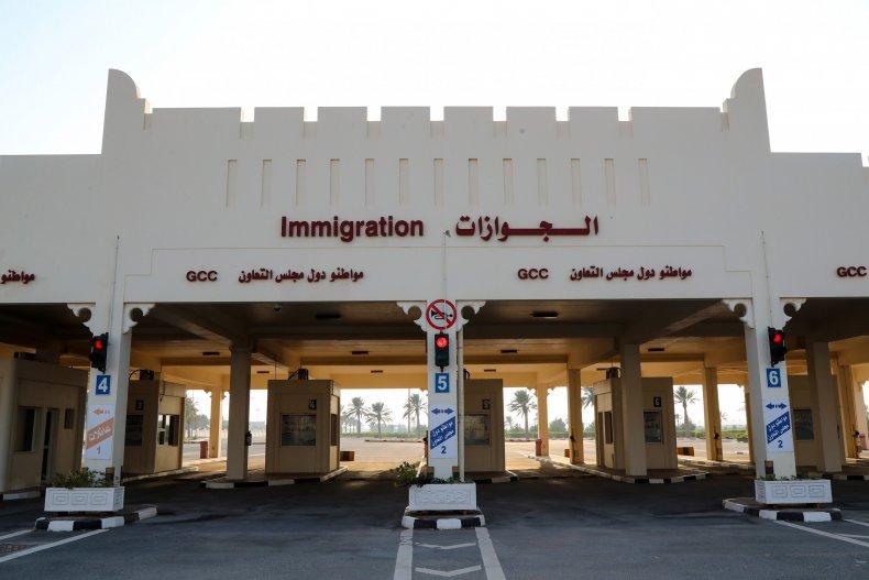 Saudi/Qatari border in January 2021