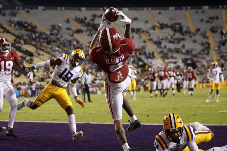 DeVonta Smith catch at LSU
