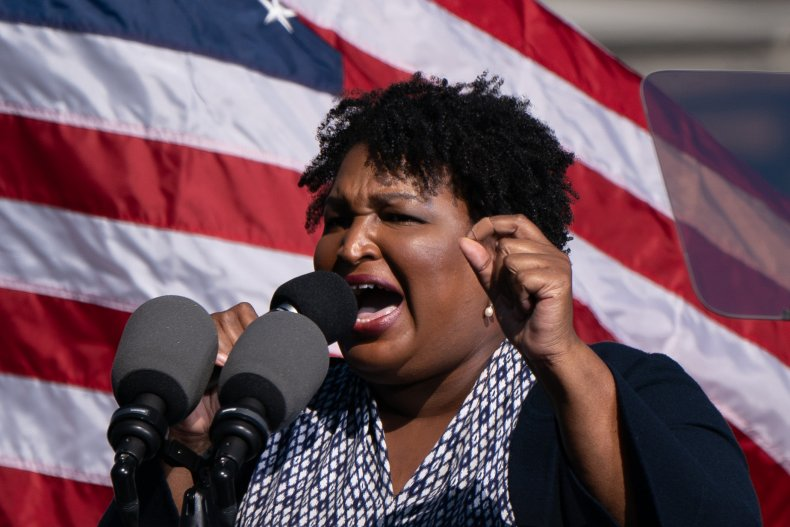 Voting rights activist Stacey Abrams