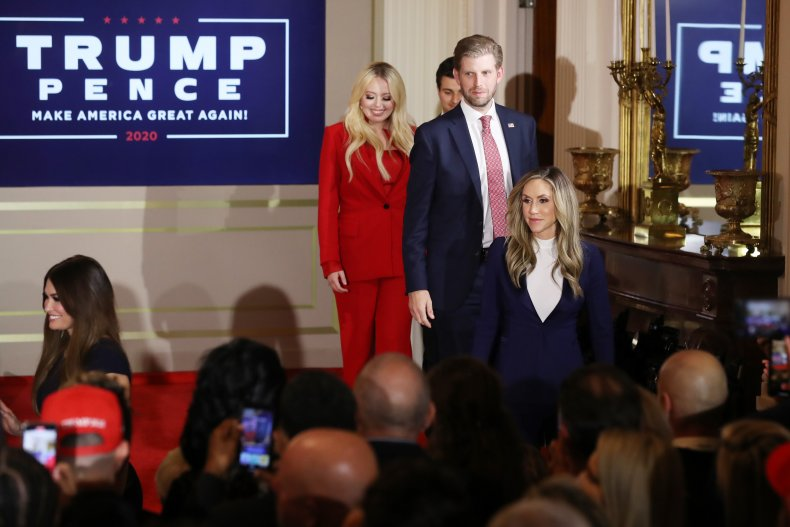 Eric Trump and Family on Election Night