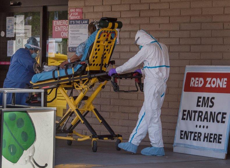 Arizona hospital patient emergency room May 2020
