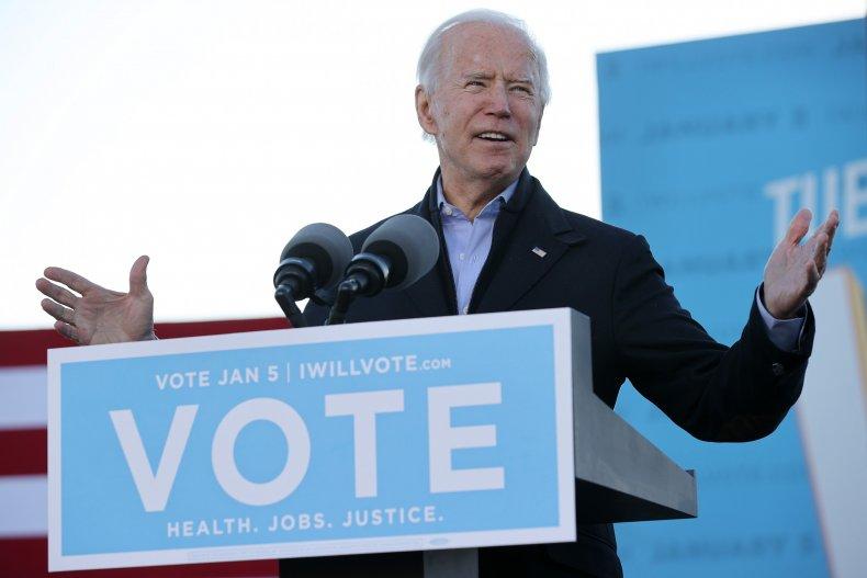 President-elect Joe Biden speaks at Atlanta rally
