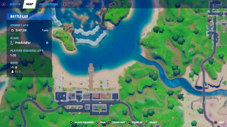 fortnite blow up fishing hole sweaty sands