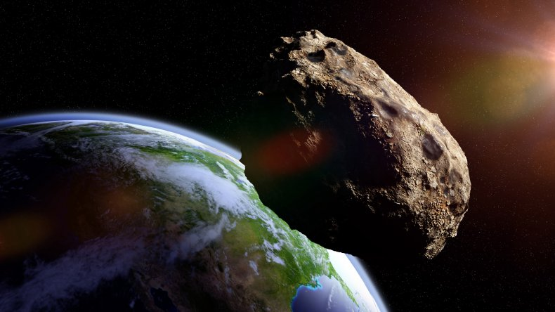Asteroid making Earth close approach