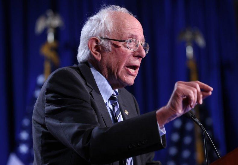 Sen. Sanders Gives Address On Trump's Threat