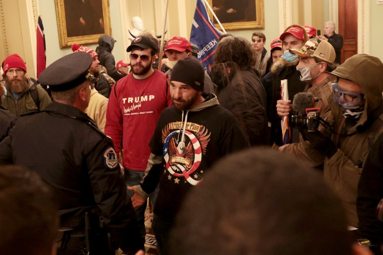 protesters gather in capitol building 1/6/2020