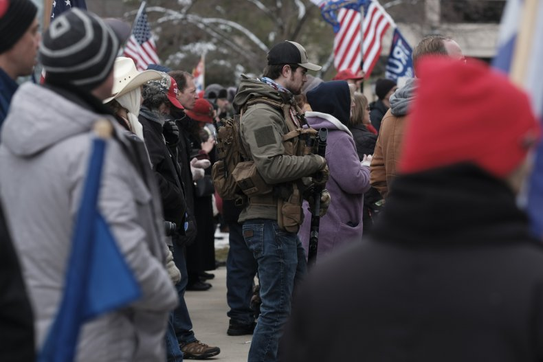 lansing michigan trump supporters protest