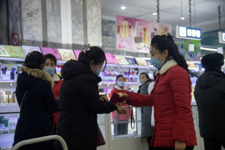department, store, pyongyang, north, korea, covid