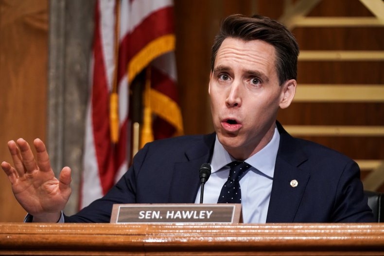 Josh Hawley Missouri editorial blood hands coup