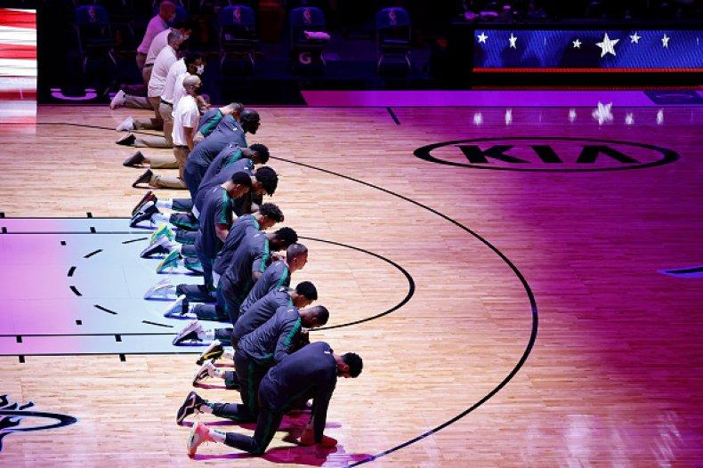 Boston Celtics Kneel in Protest