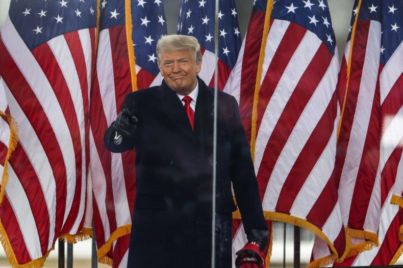 donald trump at rally in washington dc
