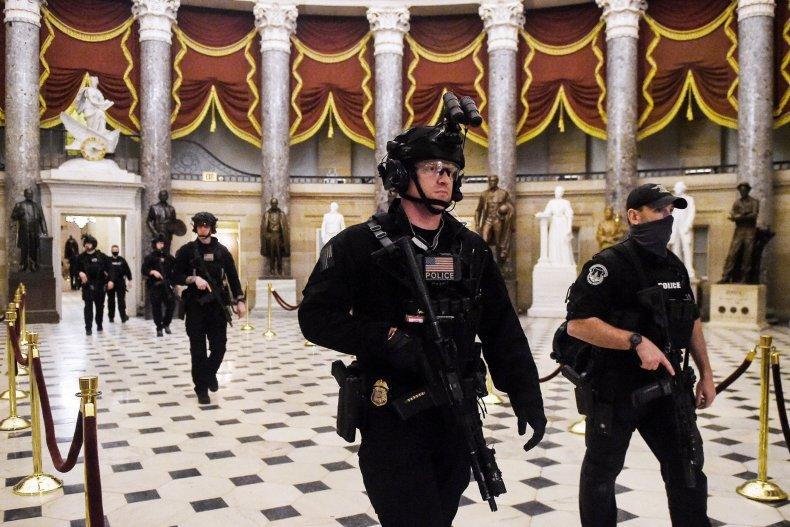 SWAT team U.S. Capitol January 2020