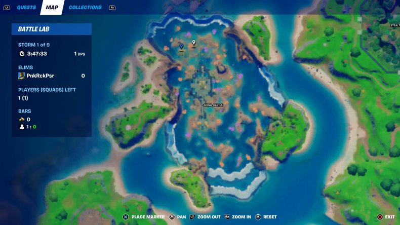 fortnite signal coral buddies shell location 1