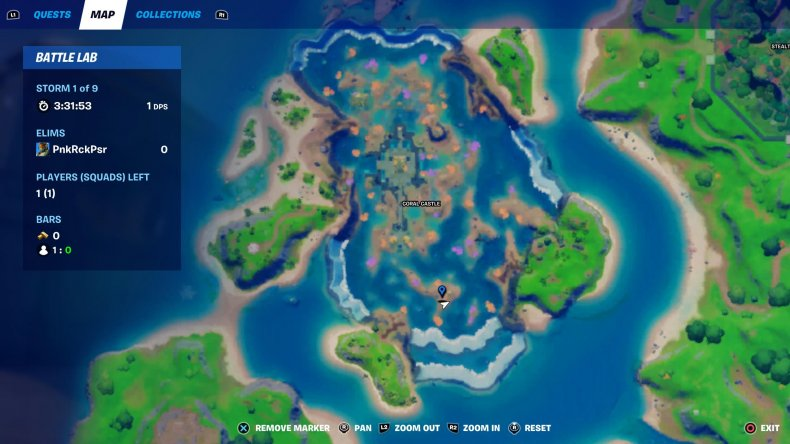 fortnite signal coral buddies shell location 2