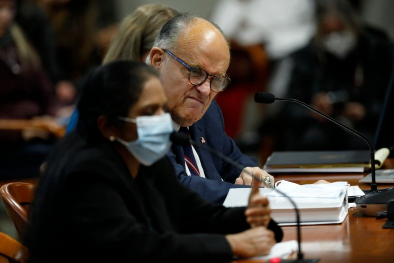 Rudy Giuliani Questions a Detroit Poll Worker