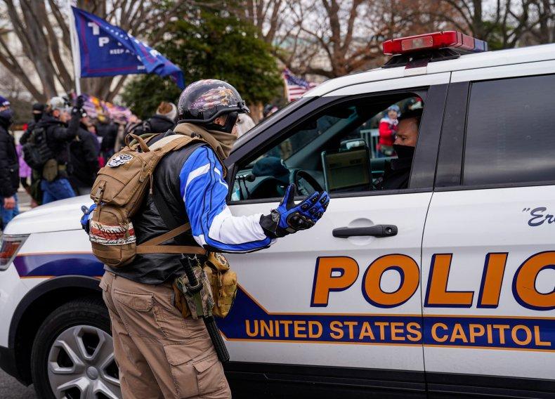 Capitol police officer Washington, D.C. January 2020