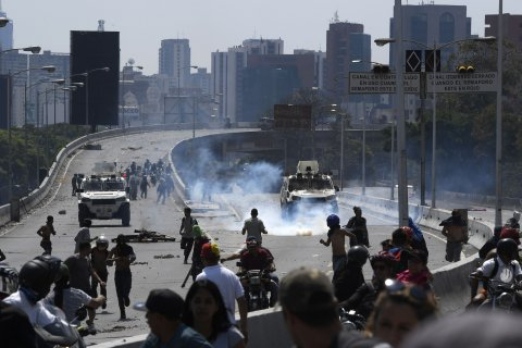 venezuela, protests, coup, attempt, caracas
