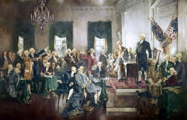 Signing of the U.S. Constitution, 1940 painting